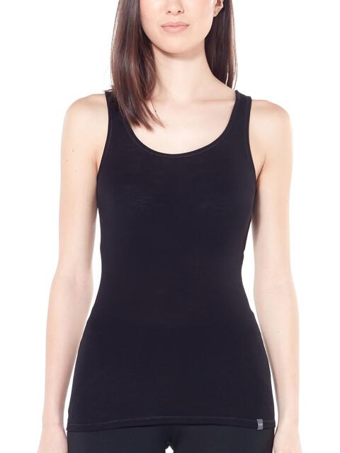 Icebreaker Luxe Rib camicia a maniche corte Donna nero